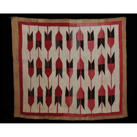 navajo rug chords navajo rug with arrow motif 44 quot x 51 quot condition with minor stain loss to three tabs and one mi