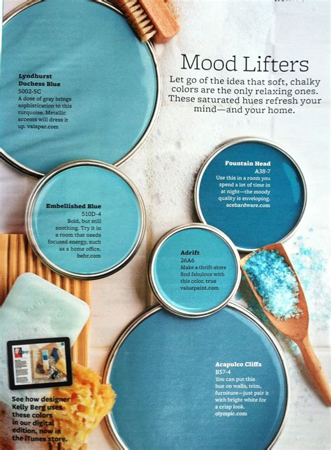color lifter bhg mood lifters for the home blue paint colors paint
