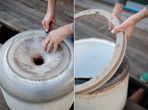 pit made from washing machine drum how to turn a washing machine drum into a pit