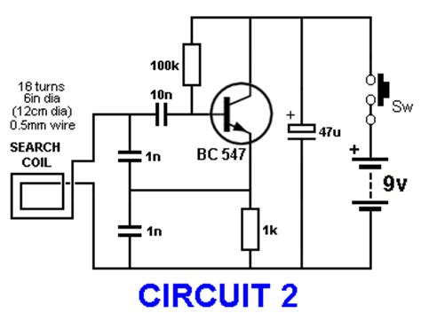 metal detector circuit diagram basic circuitry of metal detection