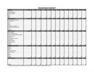 Annual Budget Template 10 Household Budget Templates Free Sample Example