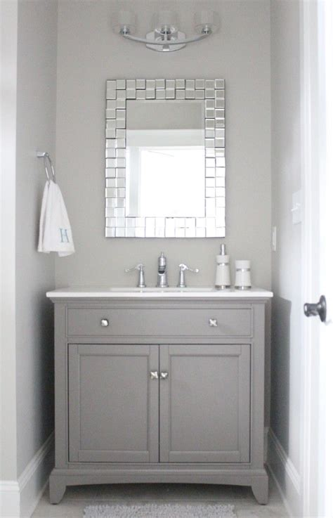 grey bathroom mirror 25 best ideas about grey bathroom vanity on pinterest