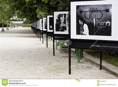 outdoor photography exhibition editorial stock image image 20424799
