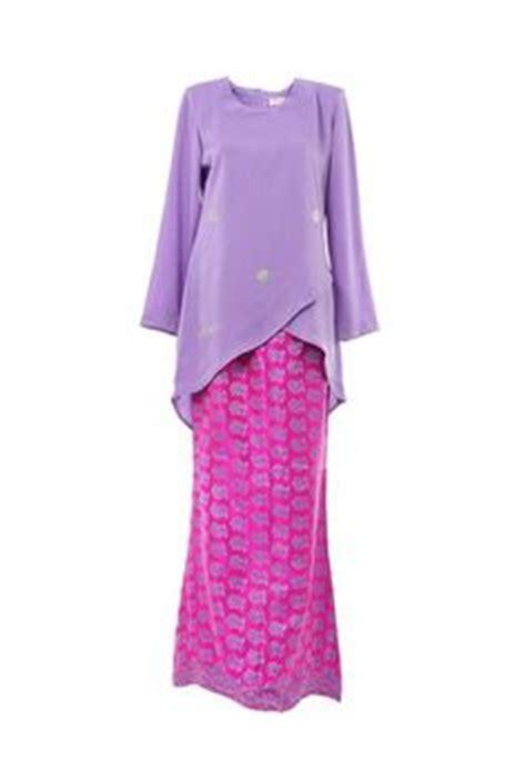 Jenita Tunic polka peplum baju kurung baby blue pink dreses