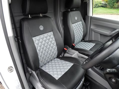 Vw Seat Upholstery by Volkswagen Vw Caddy Grey Black Seat Covers Ebay