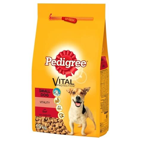 Pedigree Beef 1 5kg pedigree small breed food beef veg 1 5kg feedem