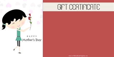 S Day Gift Card Template by S Day Gift Certificate Templates