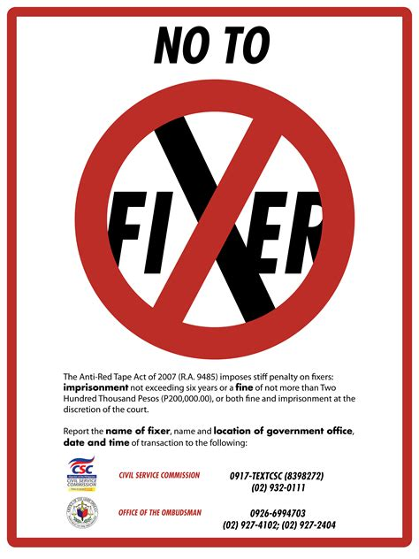 how to be on fixer anti act of 2007 civil service commission