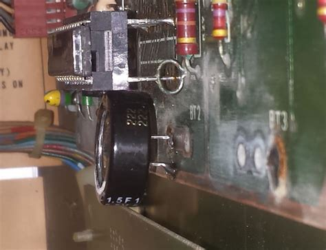 capacitor remove battery never replace another pinball machine battery no more leaks