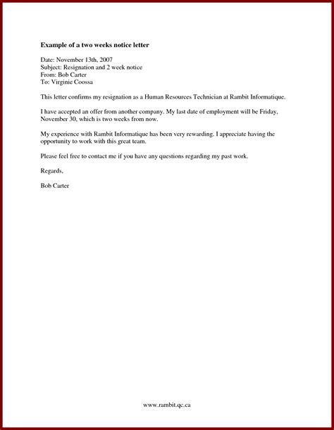 notice to leave template search results for two weeks notice letter exle