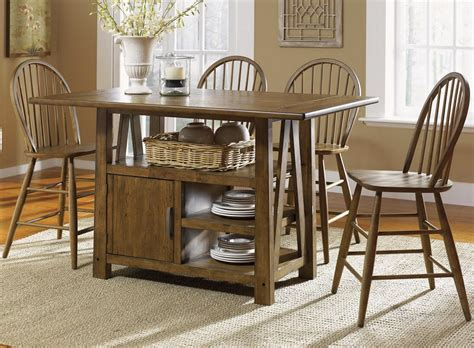 farmhouse dining table set farmhouse counter height storage table casual dining set
