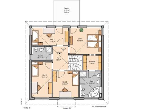 Haus Mit 6 Schlafzimmern by Kern Haus Stadtvilla Centro Grundriss Obergeschoss