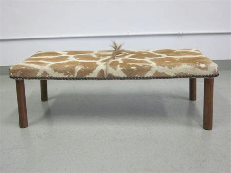 bench in french french 1930s modernist bench covered in giraffe skin for