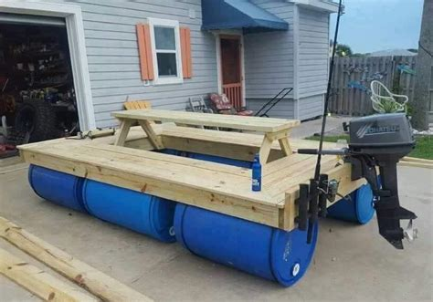 how to build a boat dock with plastic barrels a boat made of wood and 55 gallon poly drums home design