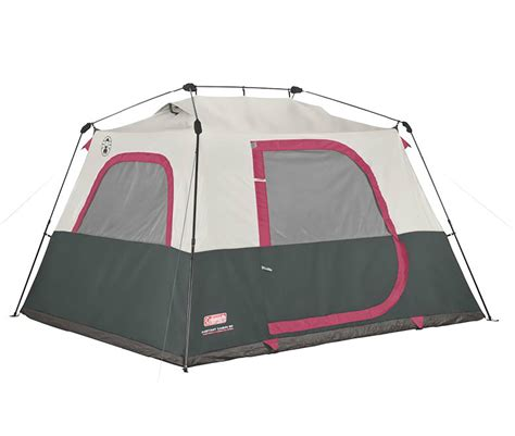coleman 6 person family waterproof cing instant cabin