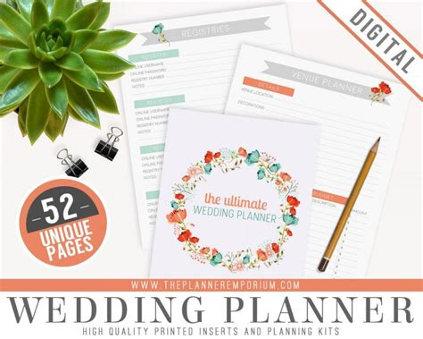 peculiar printable wedding planner instant download ultimate wedding ultimate wedding planner organizer kit instant download