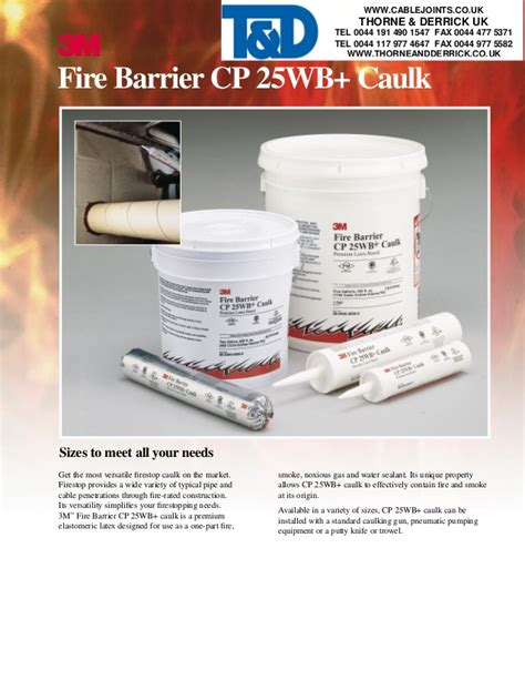 3m Barrier Sealant 1 3m barrier intumescent sealant 3m cp25wb