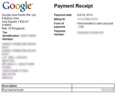 wire transfer receipt template adsense payment via wire transfer now available to