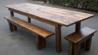 Reclaimed Dining Room Table by Reclaimed Wood Dining Table Designs Recycled Things