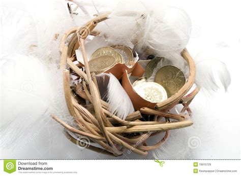 Nbc Shells Out Money For Royalty by Money In Egg Shell In Nest Royalty Free Stock Image