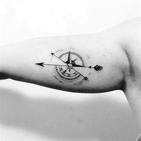 50 small compass tattoos for men navigation ink design ideas