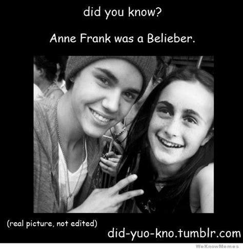 Hitler Anne Frank Meme - anne frank belieber meme shuffle pinterest anne frank