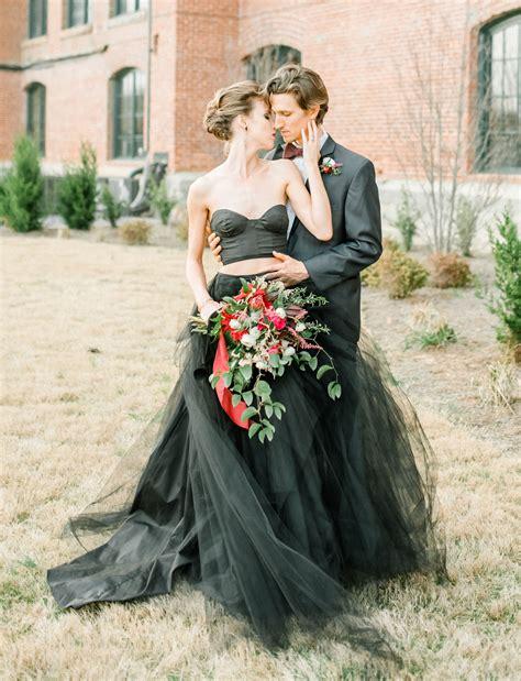 Black Wedding Dresses by Moody Autumn Wedding Inspiration With A Black Wedding