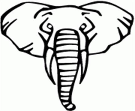 Tete Elephant Profil by Coloriage Tete D Elephant De Dessin