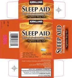 Kirkland signature sleep aid costco wholesale company doxylamine