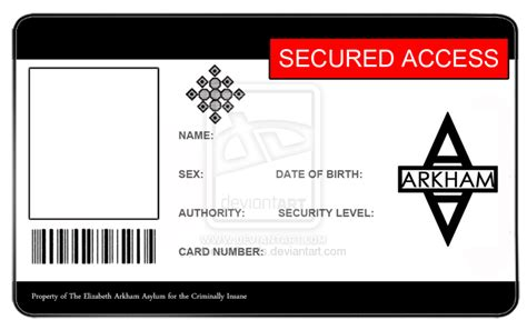 id card blank template arkham asylum id card blank by vortexvisuals on deviantart
