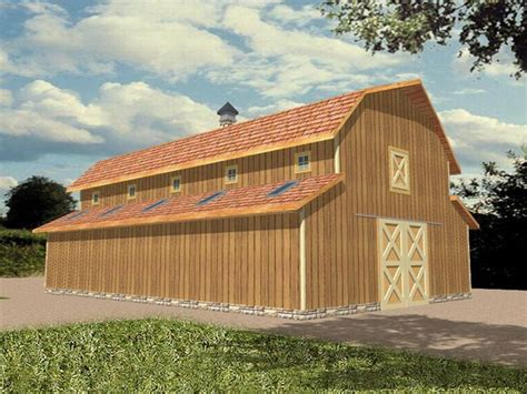 barn design outbuilding plans horse barn plan with hay loft and