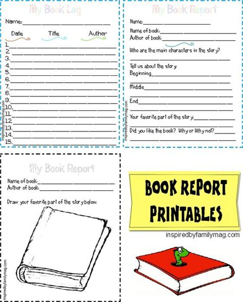 reading book report book reports reading and printables on