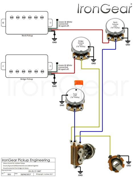 guitar 3 way switch wiring diagram free wiring