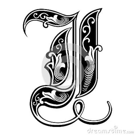 imagenes de letras goticas j fuente g 243 tica adornada del estilo letra i fotos de