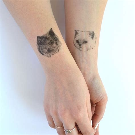 realistic temporary tattoos temporary tattoos set of three cat tatts by helloharriet