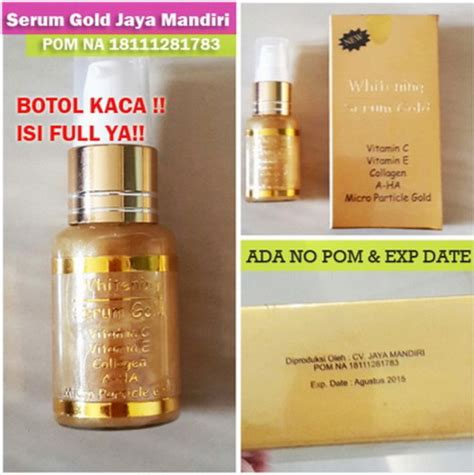 Whitening Serum Gold Jaya Mandiri serum gold whitening jaya mandiri richelle shop
