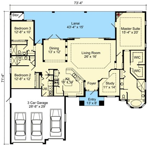 walk in pantry floor plans open concept mediterranean house plan 64304bt 1st