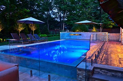 Pool Patio And Hearth New Glass Tile Pool And Patio Design Modern Pool New