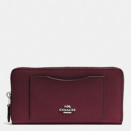 Coach Accordion Zip F54007 Crossgrain Leather Wallet Beechwood coach f54007 accordion zip wallet in crossgrain leather