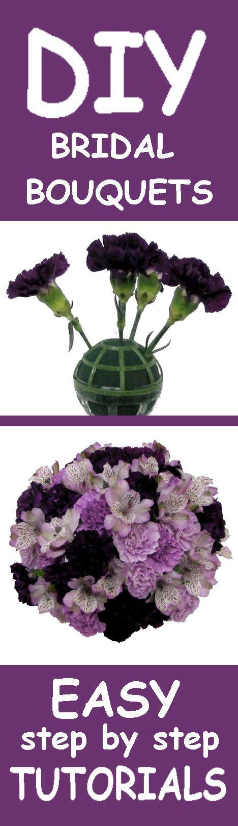 Wedding Bouquet Tutorial by Purple Wedding Bouquets Easy Wedding Flower Tutorials