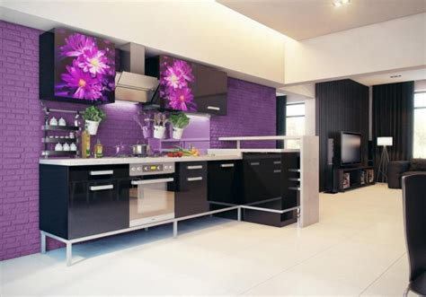 purple kitchens design ideas stunningly beautiful purple kitchen designs