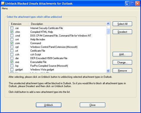 how to unblock a software publisher in windows 10 yahoo unblock blocked unsafe attachment shareware version 2 1 1