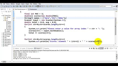 tutorial java array java tutorial working with parallel arrays youtube