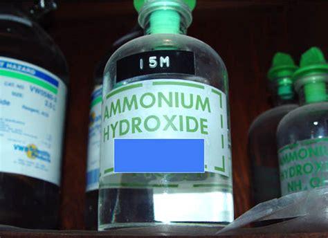 ammonium hydroxide formula properties uses msds chemistry learner