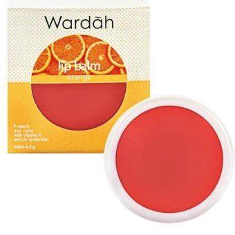 Pelembab Wardah Kecil wardah lip balm orange lazada indonesia