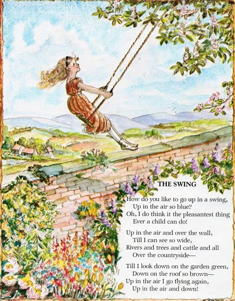 poem swing poems and illustrations to frame or use in projects robert