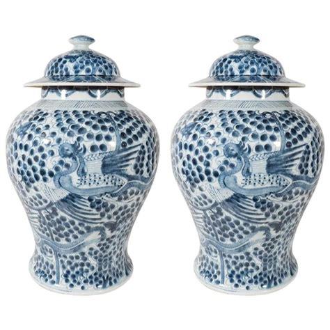 Antique Vintage Style Blue White Ornate Vase Jar Floral Stripe Farm New 26cm 10 Quot Pair Of Large Blue And White Antique Porcelain