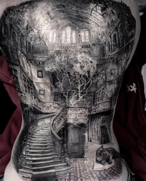 tattoo 3d full back full back tattoo back tattoos pinterest tattoo