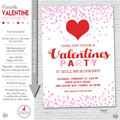 printable valentine invitation valentines party invitation valentine party invitation