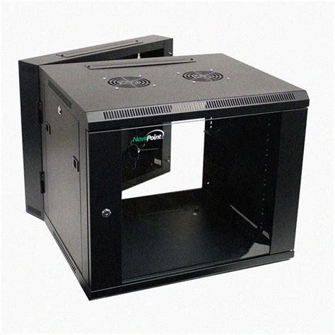 Wall Mounted Network Rack by 9u Wall Mount Section Hinged Swing Out Server